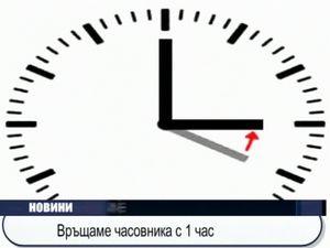 Връщаме часовника с 1 час