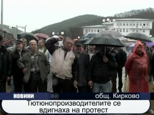 Тютюнопроизводителите се вдигнаха на протест