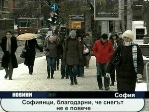 Софиянци благодарни, че снегът не е повече