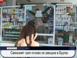 Свинският грип отново се завърна в Бургас
