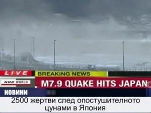 2500 жертви след опостушително цунами в Япония