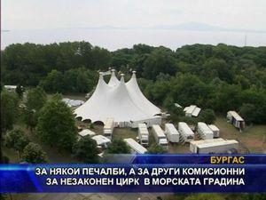 Печалби и комисионни от незаконен цирк в Морската градина