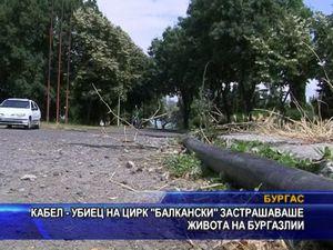 """Кабел на цирк """"Балкански"""" застрашава живота на бургазлии"""