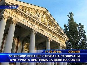 90 хиляди лева ще струва културната програма за деня на София