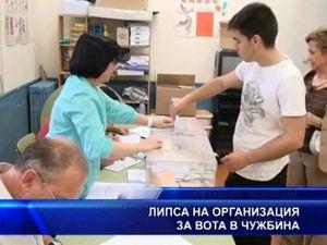 Липса на организация за вота в чужбина