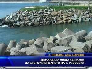 Държавата нищо не прави за брегоукрепването на р. Резовска