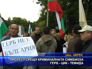 Протест срещу криминалната симбиоза ГЕРБ - ЦИК - ТЕМИДА
