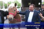 Министър дари кон