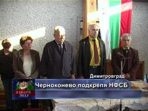 Черноконево подкрепя НФСБ