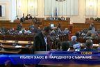 Пълен хаос в народното събрание