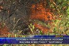Огромен пожар обхвана лозови масиви в местност