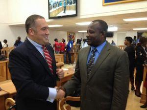 Слави Бинев на проверка в Хаити от името на ЕС