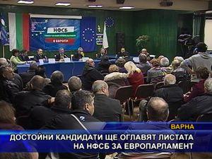 Достойни кандидати ще оглавят листата на НФСБ за европарламент