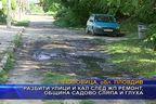 Разбити улици и кал след ЖП ремонт, община Садово сляпа и глуха