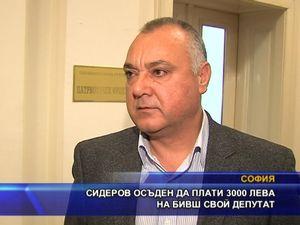 Сидеров осъден да плати 3 000 лева на бивш свой депутат