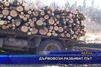 Дървовози разбиват път