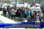 Недоволни от мораториума за износ на дървесина протестираха пред парламента