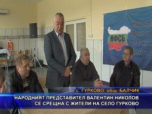 Валентин Николов се срещна с жители на село Гурково