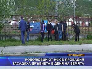 Родолюбци от НФСБ - Провадия засадиха дръвчета в Деня на земята