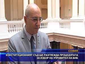 Конституционният съд ще разглежда процедурата за избор на управител на БНБ