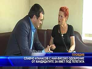 Славчо Атанасов с най-високо одобрение от кандидатите за кмет в Пловдив