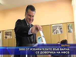 3 000 от избирателите във Варна се довериха на НФСБ