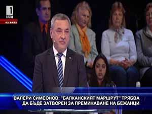 """Симеонов: """"Балканският маршрут"""" трябва да бъде затворен за бежанци"""