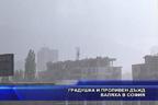 Градушка и проливен дъжд валяха в София
