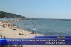 Забраната за къпане на офицерския плаж остава в сила