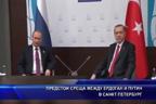 Предстои среща между Ердоган и Путин в Санкт Петербург