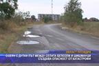 Осеян с дупки път между селата Белозем и Шишманци създава опасност от катастрофи