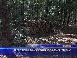 Да спрем унищожаването на Борисовата градина
