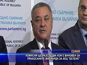 """Комисия ще разследва кой е виновен за прахосаните милиарди за АЕЦ """"Белене"""""""