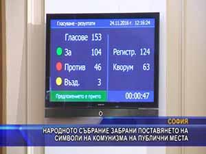 Парламентът забрани поставянето на символи на комунизма на публични места