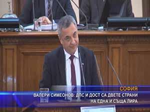 Валери Симеонов ДПС и ДОСТ са двете страни на една и съща лира