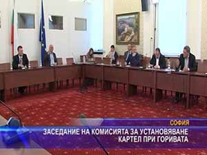 Заседание на комисията за установяване картел при горивата