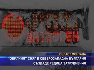 Обилният сняг в Северозападна България създаде редица затруднения