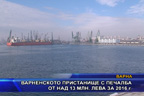 Варненското пристанище с печалба от над 13 млн. лева за 2016 г.