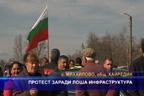 Протест заради лоша инфраструктура