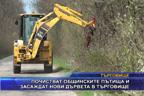Почистват общинските пътища и засаждат нови дървета в Търговище