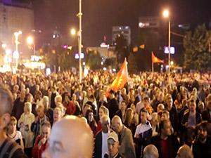Насилие в македонския парламент