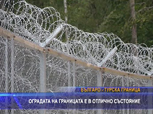 Оградата на границата е в отлично състояние