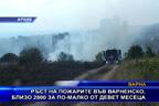 Ръст на пожарите във Варненско, близо 2800 за по-малко от девет месеца