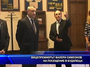 Вицепремиерът Валери Симеонов на посещение в Будапеща