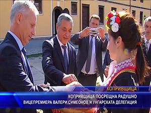 Копривщица посрещна радушно вицепремиера Валери Симеонов и унгарската делегация