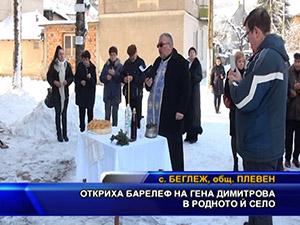 Откриха барелеф на Гена Димитрова в родното и село