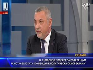 Симеонов: Идеята за референдум за Истанбулската конвенция е политическа самореклама