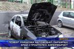 Пожар унищожи автомобил паркиран край строителен хипермаркет