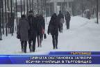 Зимната обстановка затвори всички училища в Търговищко