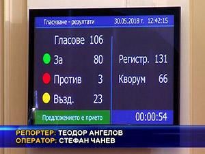 Парламентът прие на първо четене промените в закона за МВР